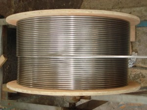 Stainless steel capillary coil coiled tubes tubings pipes